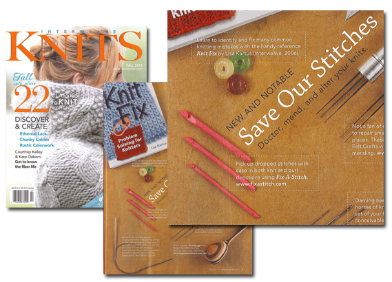 As featured in Interweave Knits Magazine